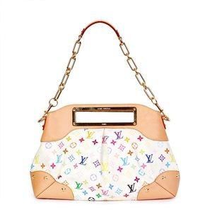 LOUIS VUITTON Multicolor Judy GM White